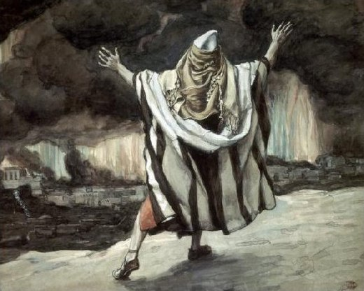 Abraham Sees Sodom in Flames, watercolor by James Tissot, c. 1896-1902 Tissot Abraham Sees Sodom in Flames.jpg