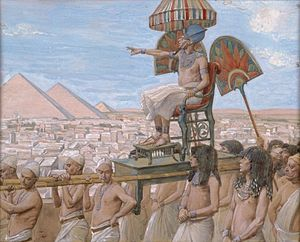 Shemot (parsha) - Pharaoh Notes the Importance of the Jewish People (watercolor circa 1896–1902 by James Tissot)