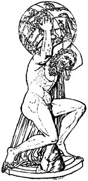 Ο Άτλας καταδικασμένος να φέρει στους ώμους του τον ουράνιο θόλο.