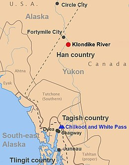 Fort Yukon Alaska Map.Klondike Gold Rush Wikipedia