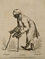 Toby, a beggar who pretended to be blind and crippled. Etchi Wellcome V0007331.jpg