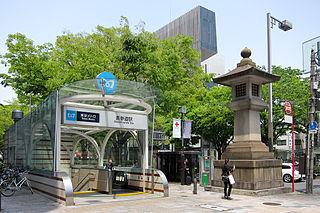 metro station in Minato, Tokyo, Japan