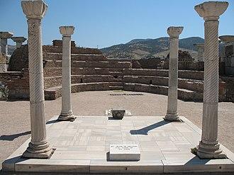 Metropolis of Ephesus - The tomb of Apostle John in the ruins of Ephesus.