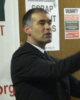 2003 Scottish Parliament election - Image: Tommy Sheridan 2007 (cropped)
