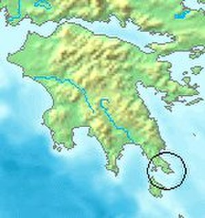 Cape Maleas - Cape Maleas topography.