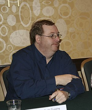 Keith Topping - Keith Topping at a Doctor Who fan convention
