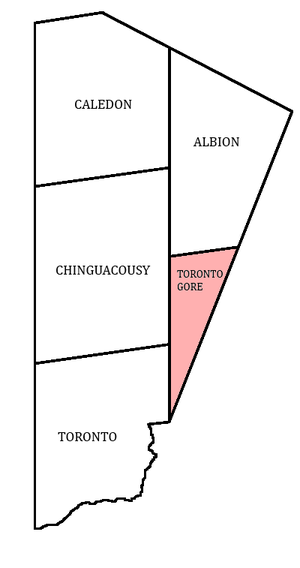 Toronto Gore Township, Ontario - Toronto Gore within Peel County.