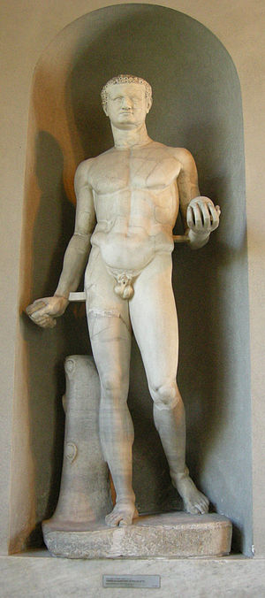 Titus - Statue of Titus modelled after the Doryphoros of Polykleitos, 79–81 AD, Vatican Museums