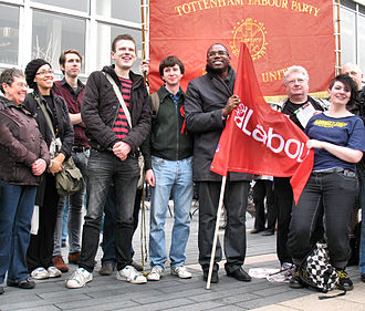 David Lammy - Lammy with Tottenham Labour Party members and others before joining the TUC Anti-Cuts March in March 2011