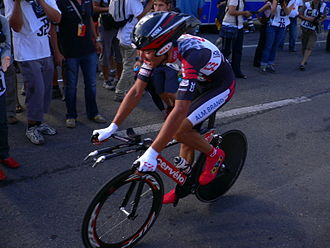 Ivan Basso - Basso at the 2005 Tour de France, where he finished the race second overall.