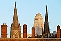 Tower, spires, chimneys, Woodhouse Lane, Leeds (Taken by Flickr user 28th January 2013).jpg