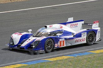 2012 24 Hours of Le Mans - The Toyota TS030 Hybrid racing at Le Mans in 2012