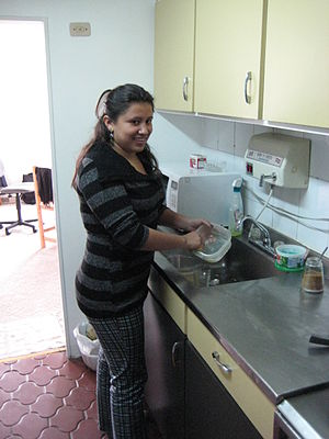 Domestic worker in Colombia