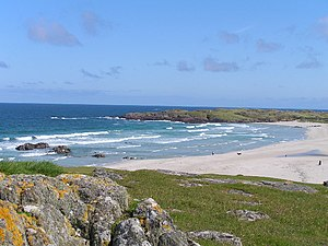 Surfing in Scotland - Tràigh Baile a' Mhuilinn on the north west coast of Tiree, Inner Hebrides