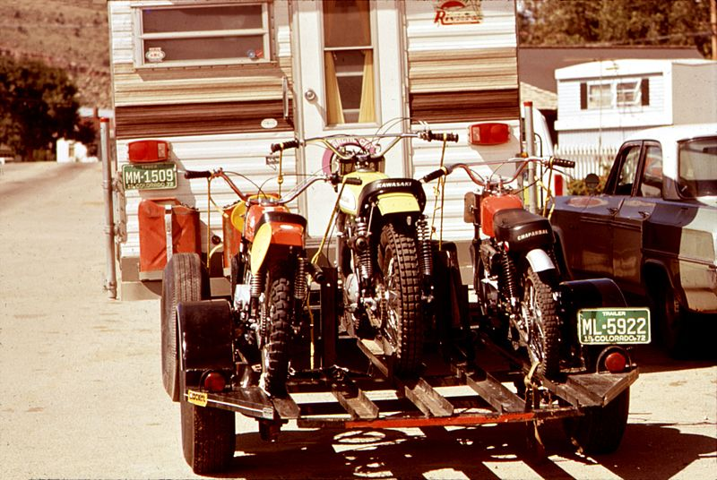 File:Trail bikes and camper -NARA - 544859 (restored).jpg