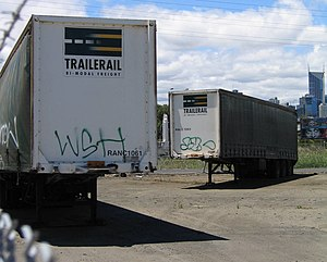 Roadrailer - Australian National operated Roadrailers under the Trailerail brand.