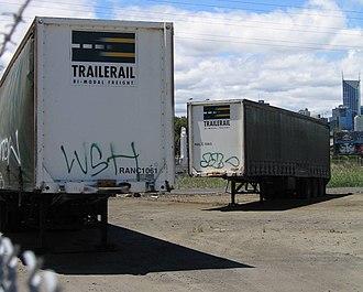 Roadrailer - Australian National operated Roadrailers under the Trailerail brand.