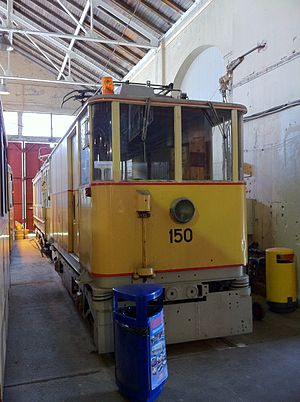 Bergen's Electric Tramway - Image: Tram 150 at Bergens Tekniske Museum