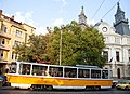 Tram in Sofia near Macedonia place 2012 PD 061.jpg