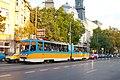 Tram in Sofia near Macedonia place 2012 PD 082.jpg