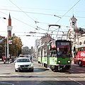 Trams in Sofia in front of Central Market Hall 2012 PD 15.JPG