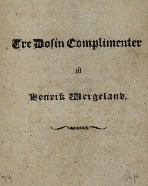 File:Tre Dosin Complimenter til Henrik Wergeland.djvu