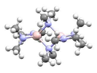 Metal amides - Image: Tris(dimethylamino)a luminium dimer