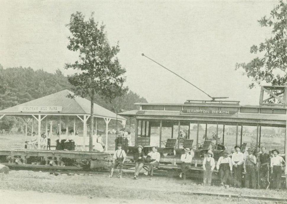 Trolley at Stratham Hill Park, Stratham, NH