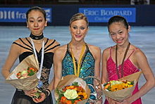 Trophée Eric Bompard 2008 ladies podium.jpg