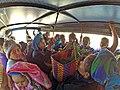 Truck-bus passengers in Taunggyi.jpg