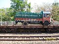Trucks being carried by Konkan Railway near Karwar - panoramio.jpg