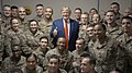 Trump poses a photo with troops in Bagram Air Base (1).jpg