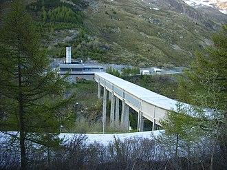 Great St Bernard Tunnel - Italian side of the tunnel