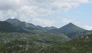 Battle of El Mazuco - Peña Turbina (at left)