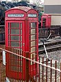 Two phoneboxes at Wansford station - geograph.org.uk - 1563521.jpg
