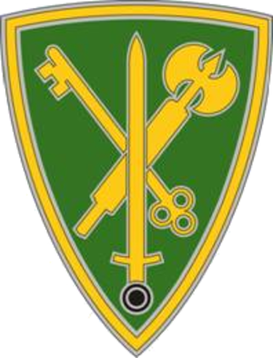 42nd Military Police Brigade (United States) - The 42nd Military Police Brigade's combat service identification badge.