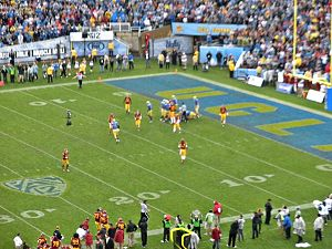 2012 Pac-12 Conference football season - UCLA defeated USC 38-28 in the Rose Bowl on November 17, 2012 for the South Division Champion