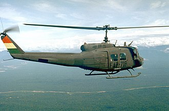 Bolivian Air Force - A UH-1 of the FAB in flight