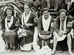 Ellen King - British women 4 × 100 m team at the 1928 Olympics, King is second from left