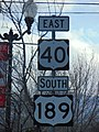 US-40 & US-189 shields in Heber City, Utah, Jan 2018.jpg
