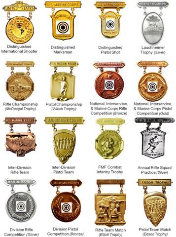 File Usmc Marksmanship Competition Badges Png Wikimedia
