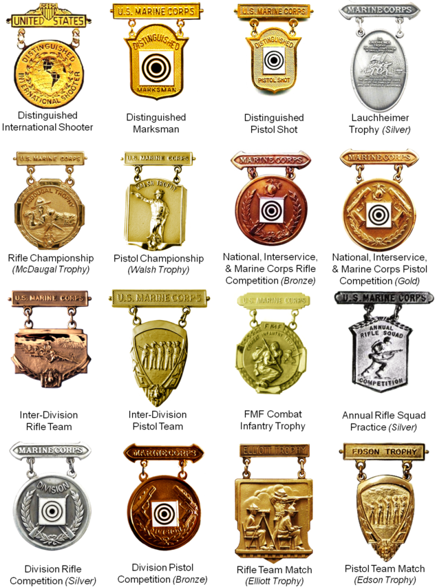 USMC Marksmanship Competition Badges
