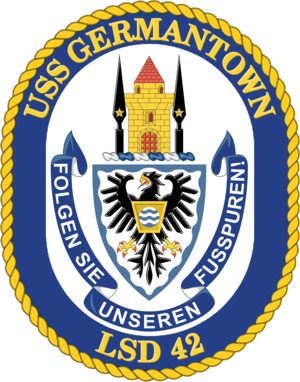 USS Germantown (LSD-42) - Image: USS Germantown LSD 42 Crest