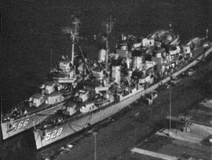 USS Stoddard (DD-566) - Image: USS Mullany (DD 528) and USS Stoddard (DD 566) at Pearl Harbor c 1960