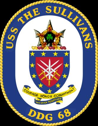 USS The Sullivans (DDG-68) - Image: USS The Sullivans crest