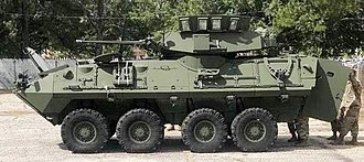 LAV-25 - A LAV-25A2 from the U.S. Army's 4-68th Armor Regiment of the 82nd Airborne Division