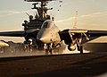 US Navy 050121-N-6363M-004 An F-14B Tomcat assigned to the Swordsmen of Fighter Squadron Three Two (VF-32) launches off one of the four steam-powered catapults aboard USS Harry S. Truman (CVN 75).jpg
