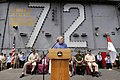 US Navy 050203-N-4166B-081 U.S. Ambassador to Indonesia, the Honorable Lynn Pascoe, gives a speech to the crew of USS Abraham Lincoln (CVN 72) and embarked Carrier Air Wing Two (CVW-2).jpg