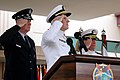 US Navy 050226-N-8157C-276 Adm. William J. Fallon, center, Adm. Thomas B. Fargo, right, and the Chairman of the Joint Chiefs of Staff, Gen. Richard B. Myers salute during the change of command ceremony for U.S. Pacific Command.jpg