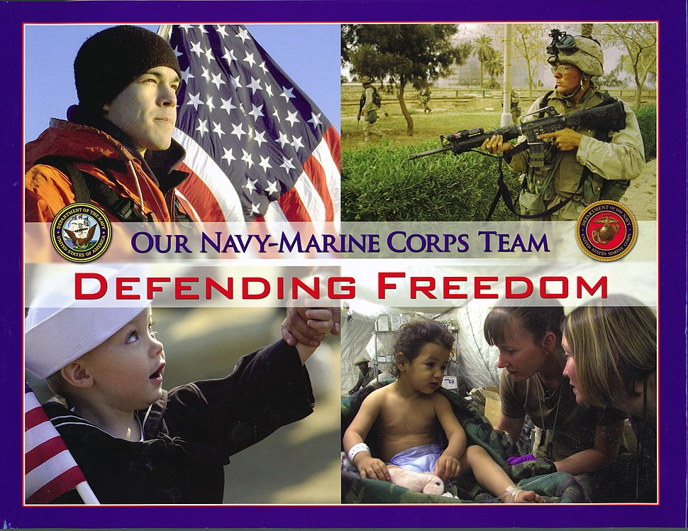 US Navy 050526-N-0000X-001 Cover photo of the new coffee table photo book Defending Freedom